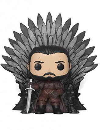 La Funko Pop de Jon Snow siégeant sur le trône de fer
