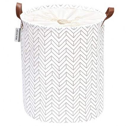 Le panier à linge en tissu