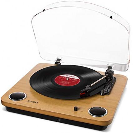 ION Audio Max LP – Platine Vinyle de Conversion avec Trois Vitesses et Enceintes Stéréo