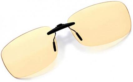 Le clip universel anti lumière bleue pour lunettes