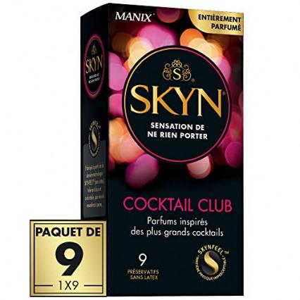 La boîte de préservatifs aromatisés cocktail club de Skyn