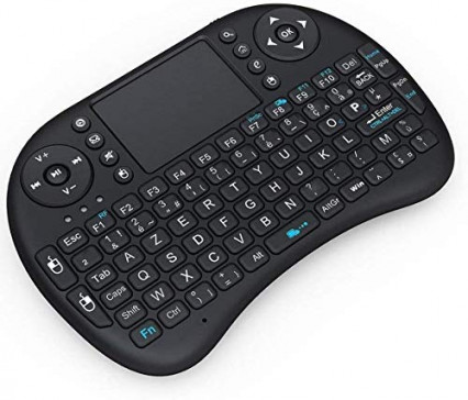 Un petit clavier sans fil pour naviguer dans le système