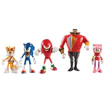 Un coffret de cinq figurines Sonic