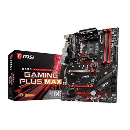 La carte mère : une MSI B450 Gaming Plus Max