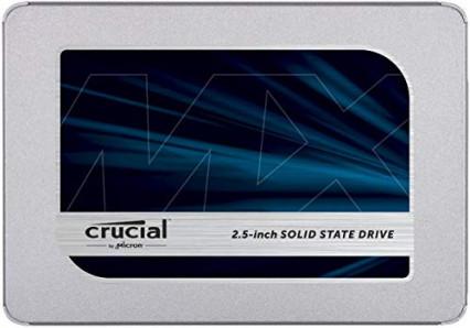 La mémoire pour le système d'exploitation : un SSD de 256 go, le Crucial MX500