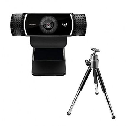 La webcam Logitech C922 Pro avec champ de vision à 90°