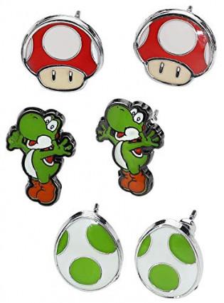 Des boucles d'oreilles Super Mario