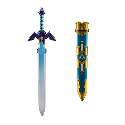 Une réplique en plastique de l'épée de Link dans Skyward Sword