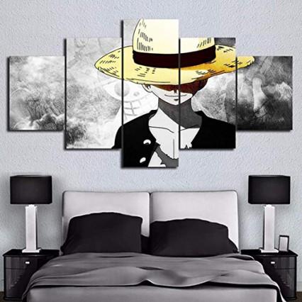 Une impression sur toile en cinq parties One Piece