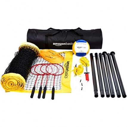 Un set de badminton AmazonBasics