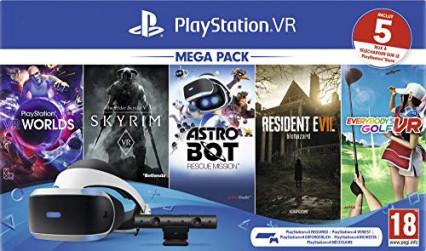 Le casque de réalité virtuelle PSVR avec la caméra et cinq jeux à télécharger