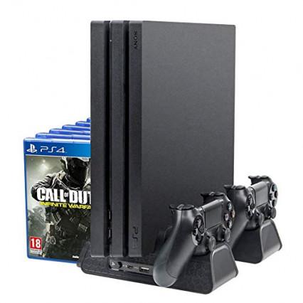 Le support vertical avec support de refroidissement pour la PS4