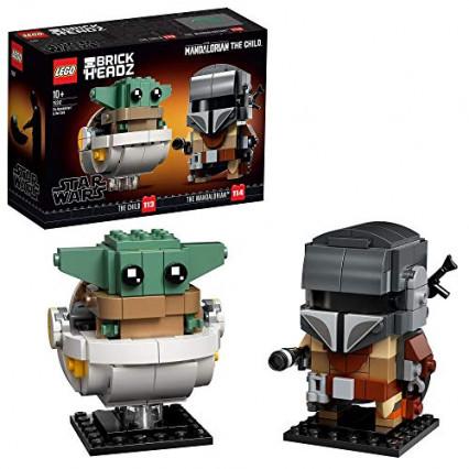 Un set de deux LEGO BrickHeadz Star Wars Le Mandalorien et l'Enfant
