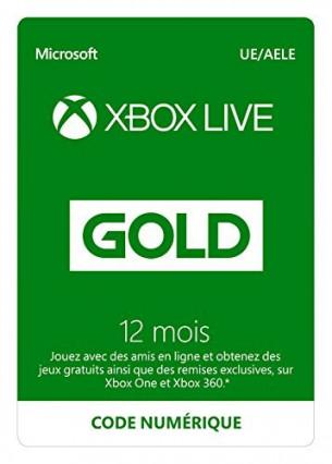 Un an d'abonnement au Xbox Live Gold