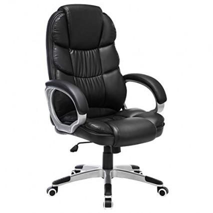 Une chaise de bureau pour être à l'aise, comme le modèle Songmics PU OBG24B