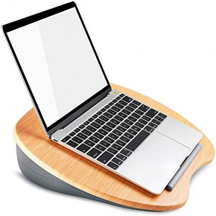 Un support pour ordinateur portable en bambou