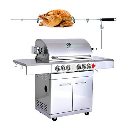 Le barbecue avec rôtissoire