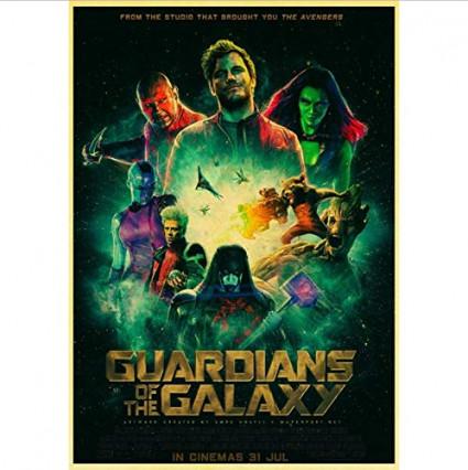 Une affiche stylisée des gardiens de la Galaxie