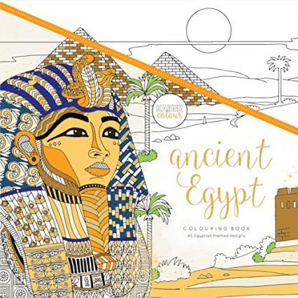Le livre de coloriage aux graphiques égyptiens