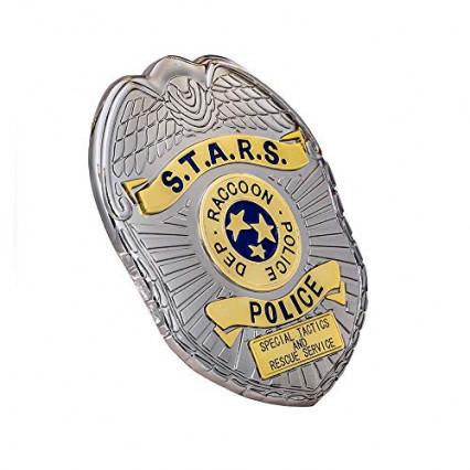 Une réplique du badge de S.T.A.R.S. de Raccoon City
