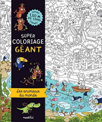 Un super coloriage géant : les animaux du monde