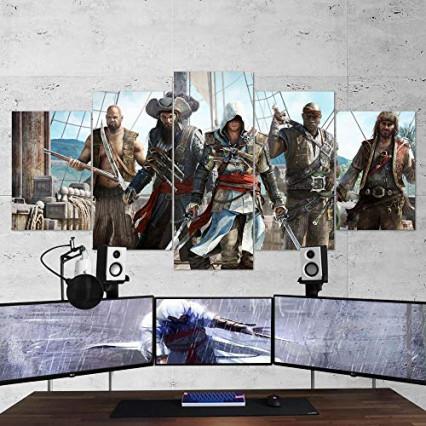 Une peinture sur plusieurs toiles Assassin's Creed IV Black Flag