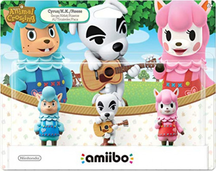 Un pack de 3 amiibos Animal Crossing
