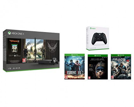 Un pack Xbox One X avec deux manettes et 4 jeux