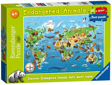 Un puzzle des animaux autour du monde, pour les enfants un peu plus expérimentés