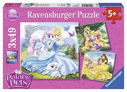Trois puzzles de princesses Disney pour les 5 ans et plus
