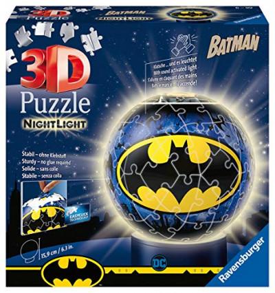 Un puzzle sphérique qui fait lampe Batman