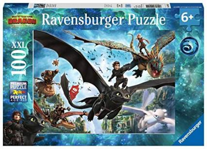 Un puzzle XXL de 100 pièces à l'effigie de Dragons 3