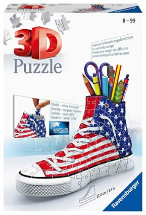 Un puzzle 3D en forme de chaussure qui fait pot à crayon