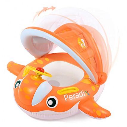 Un siège de bébé anti-uv gonflable