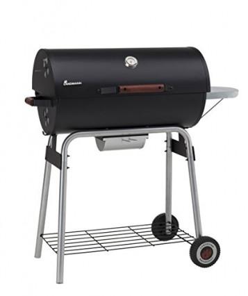 Le barbecue au charbon de bois cylindrique