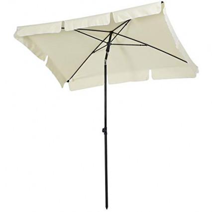 Le parasol rectangulaire à toile blanche