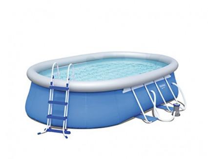 La piscine tubulaire ovale Bestway Steel Pro
