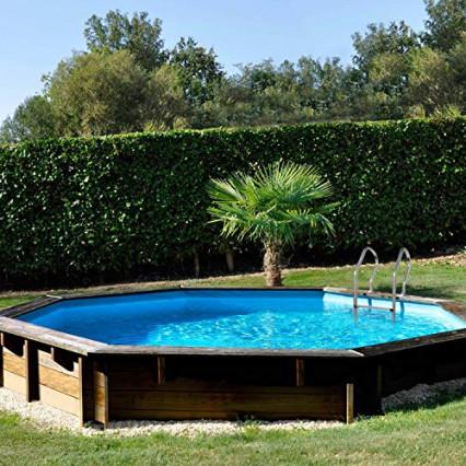 La piscine ronde en bois Sunbay Violette