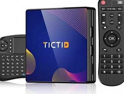 TICTID TV Box Android 9.0 avec Clavier Touchpad