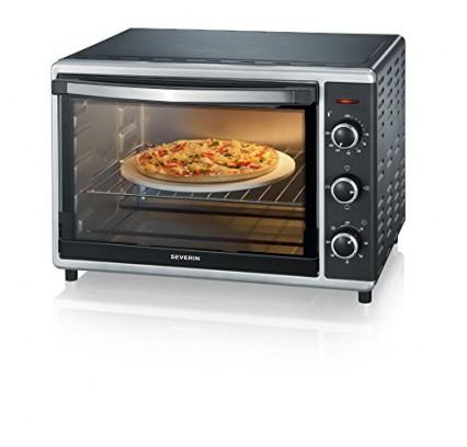 Le mini-four avec pierre à pizza