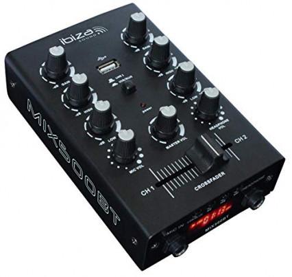 La petite table de mixage deux entrées Ibiza Mix500BT
