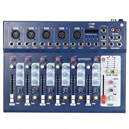 La console de mixage ammoon Audio Mixer 7