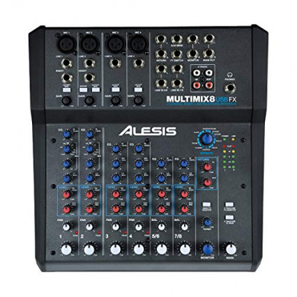 La table de mixage de studio Alesis MultiMix 8 USB FX