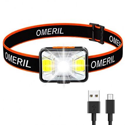 La lampe frontale à LED rechargeable Omeril