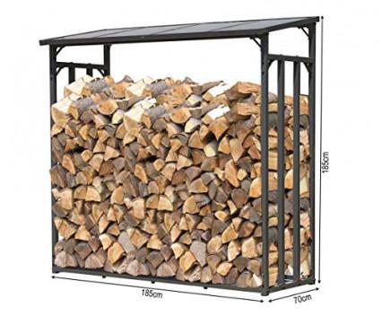 L'étagère en métal pour bois de chauffage