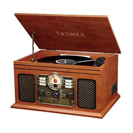 La platine vinyle sous forme de coffret vintage Victrola