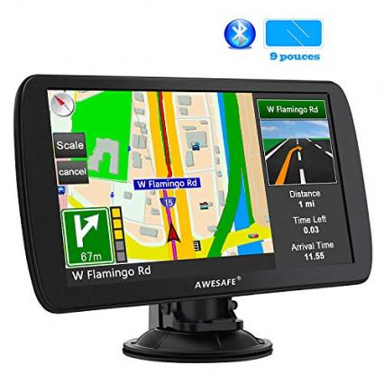 Le GPS 52 pays pour voiture et poids lourd Awesafe