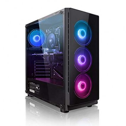 """Une unité centrale """"gaming"""" Megaport PC Gamer Platine"""