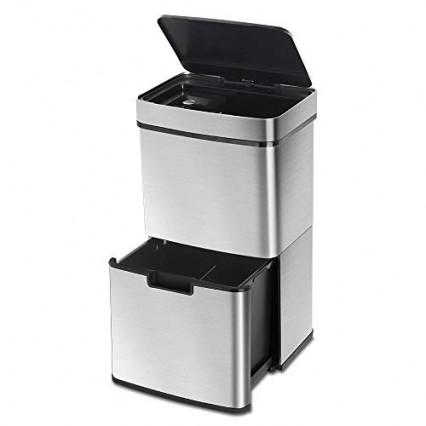 La poubelle façon cube à double étage