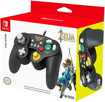 La manette Switch par Hori, semblable à celle de Gamecube, version The Legend of Zelda